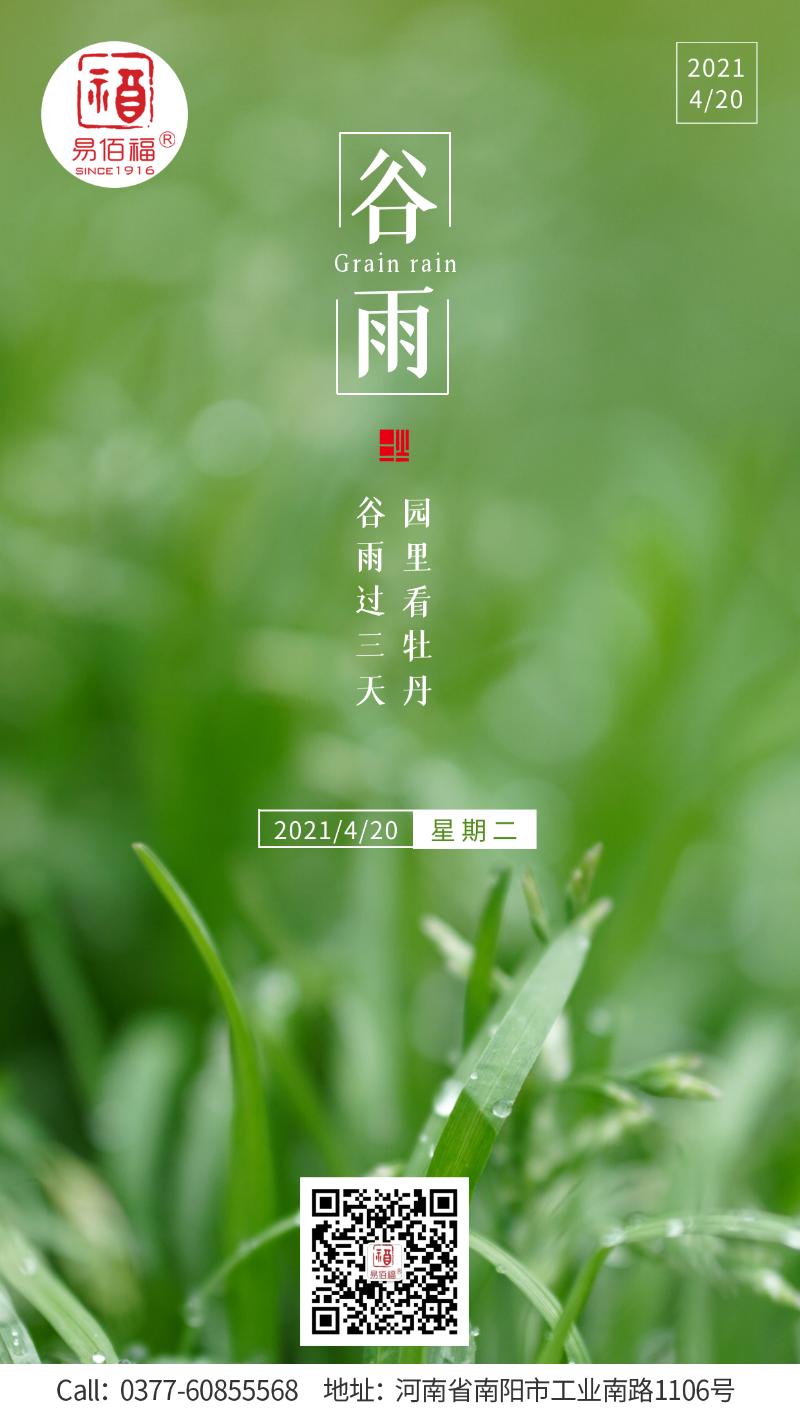 易佰福谷雨海报